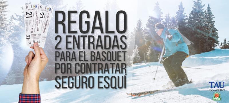 Esquí y baloncesto, unidos por el seguro de esquí